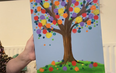 How To Make a Dotted Tree Painting